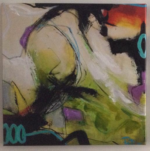 Gemälde Depeche 32, Künstler Peter, 70x70cm