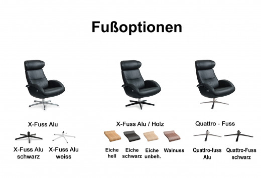 FLOW Konfigurator für Sessel m. X-FUSS
