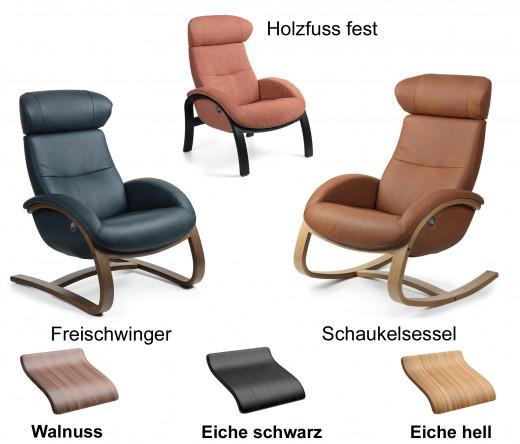 FLOW Konfigurator für Sessel m. Holzuntergestell