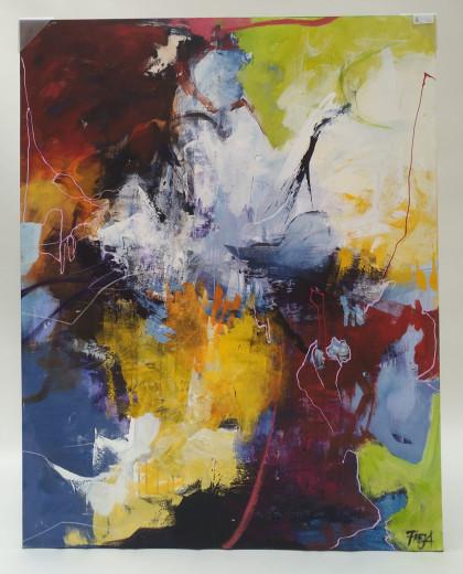 APPEAL, Gemälde 118 x 150cm, Künstlerin: FREJA