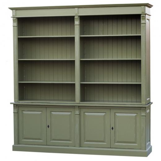 Bücherschrank / Bibliothek, Kiefer massiv, lackiert