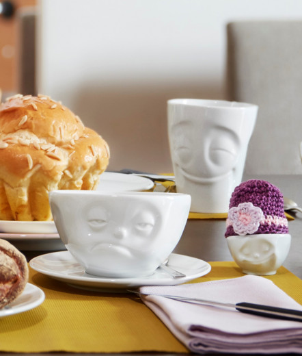 Kaffee- / Cappuccino-Tasse mit Gesicht