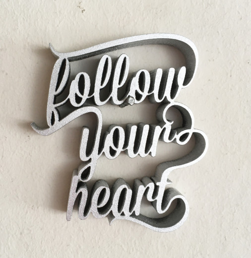 FOLLOW YOUR HEART  Silber