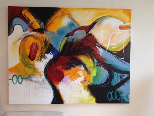 Gemälde DEPECHE 2, 150 x 118cm, Künstler Peter