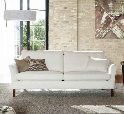 Sofa SALONI BW-135-3000, Bezugsstoff PALMIRA weiss