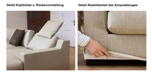 INSPIRATION - Longchair mit Anbausofa