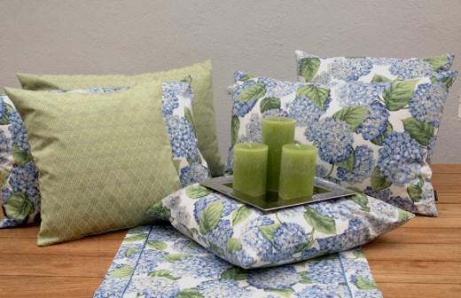 Hortensie Blau, Kissenhüllen