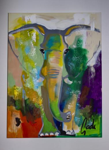 Gemälde ELEPHANT DREAMS, GADE, versch. Größen
