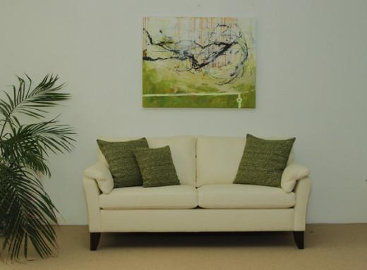 Gemälde VIEW 100x80cm  Künstler FREJA