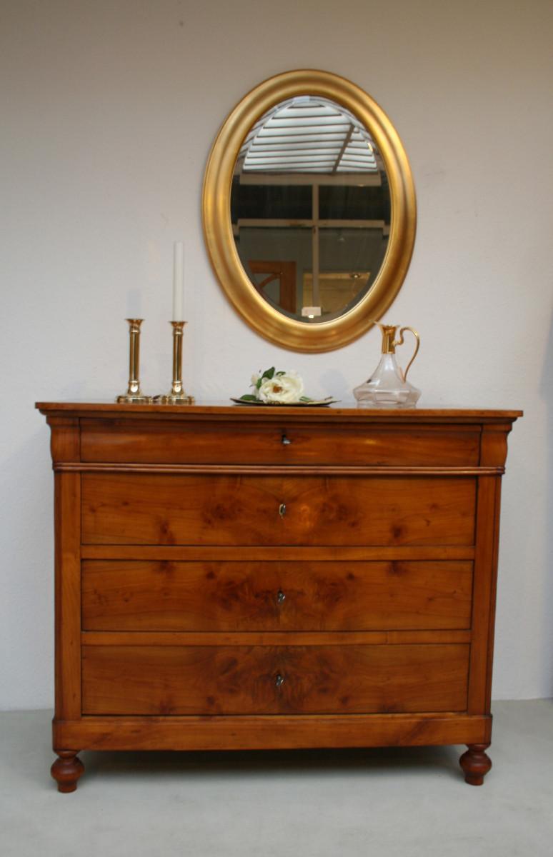 kommode kirsche 4 sch big um 1840. Black Bedroom Furniture Sets. Home Design Ideas