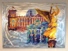 Gemälde, BERLIN 2, Öl auf Aluminium, 100 x 140cm