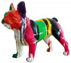 Bunte Bulldogge, Skulptur 41x25x52 cm